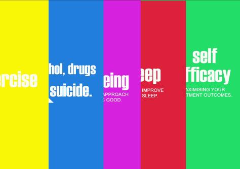 A very colourful brochure job for Suicide Risk Assessment Aust.